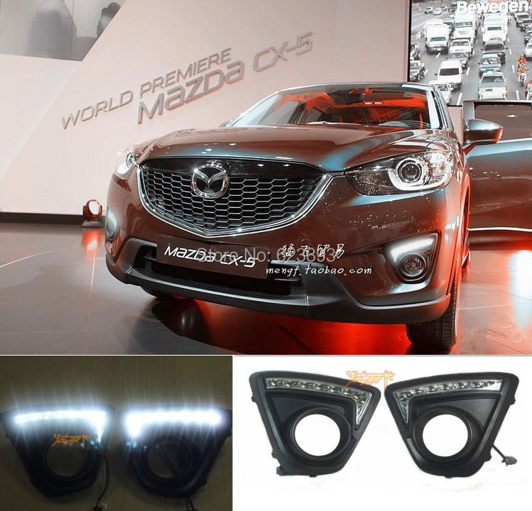 Free Shipping,2x CAR-Specific Excellent DRL LED Daytime Running Lights for 2012-2014 New Mazda CX-5(China (Mainland))
