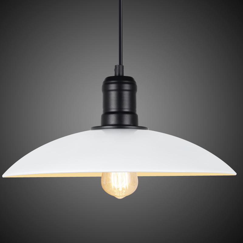 Wonderland loft american vintage dia32cm white black for Modern white pendant lighting