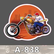 A-838 Harley Motor Figure Waterproof Fashion Cool DIY Stickers For Laptop Luggage Fridge Skateboard Car Graffiti Cartoon Sticker