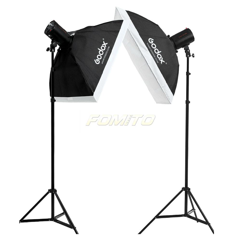 Pro Smart Studio Strobe Flash Light Kit Godox 250SDI 250ws Lamp Head + Flash Softbox + Light Stand Photography Set<br><br>Aliexpress