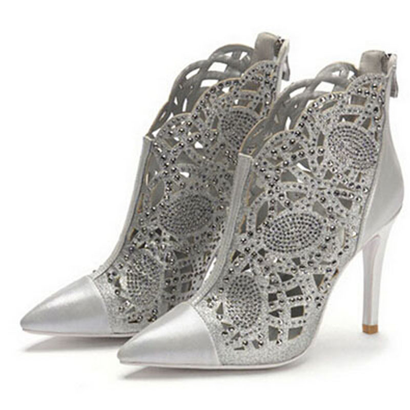 ENMAYER Platform pumps Leather summer shoes women pumps high heels rhinestones pumps Pointed Toe woman ladies dress dance pumps<br><br>Aliexpress