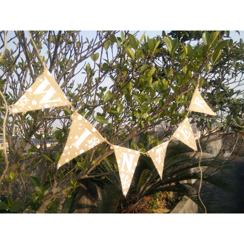 winter decor hot holiday decoration new hot yarm flag home banner decor baby shower bunting sale decor 2016 free shipping(China (Mainland))
