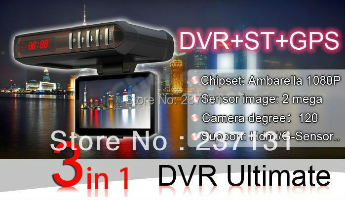 FULL HD Car DVR with radar detector GPS logger G sensor black box 1920*1080p 30fp Russian(China (Mainland))