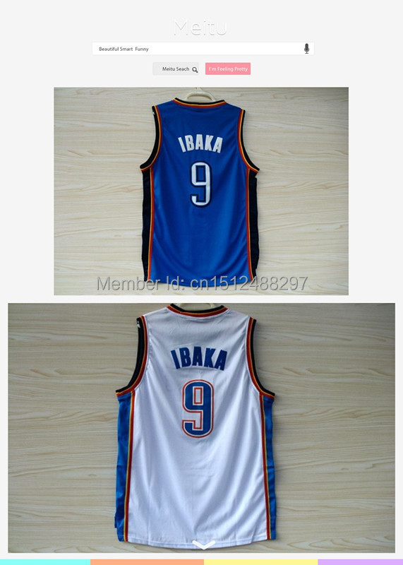 Fast Free Shipping Cheap Sell #9 Serge Ibaka Basketball Jersey, New Material Rev 30 Embroidery,Size:S-XXXL,Accept Mix Order(China (Mainland))
