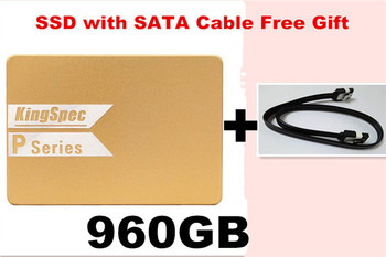 "P960 with free SATA Cable KingSpec hdd 2.5 SATA 2.5"" SATAIII 960G 1TB SSD Solid state drive Hard Disk for laptop desktop"