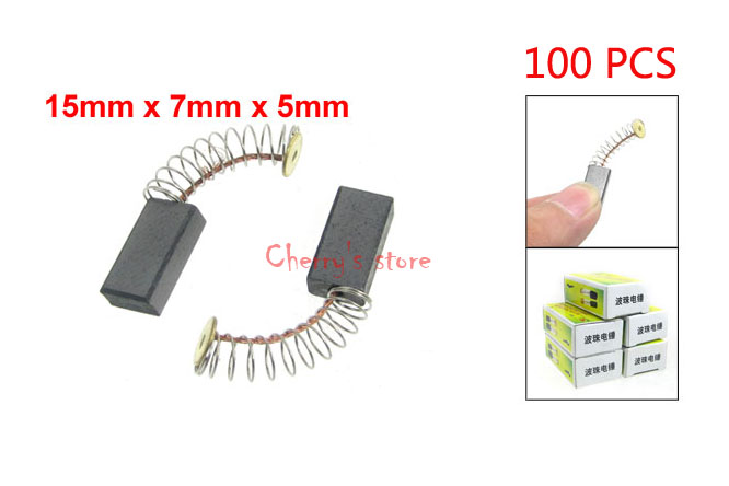 Best Promotion Wholesale Price 100 Pcs Electric Hammer Motor Carbon Brushes 15 x 7 x 5mm for Bosch(China (Mainland))