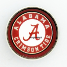 Buy Fans Gift Say Say Jewelry NCAA Alabama Crimson Tides Charms 18MM Snaps Buttons Fit Snaps Buttons bracelet for $6.99 in AliExpress store