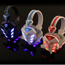 Best PC Gamer Casque audio Gaming Headset Glow Earphone in the dark dj gamer 618 for PS4 with Mic Hifi Stereo Bass LED Light