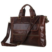 Maxwell High Quality Vintage Men Genuine Leather Briefcase Natural Skin Messenger Bags Portfolio Business Hand Bag #MW-J7212(China (Mainland))