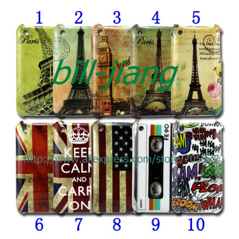 Vintage keep calm UK US flag  HAHA Stamp Eiffel london big ben tape hard Case for iphone 3G 3GS 1pcs/lot by post