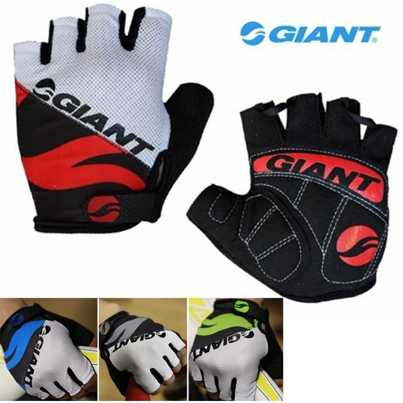 2015 New Cycle Silicone GEL Guantes Mountain Bike Bicycle MTB Half Finger Spring Men