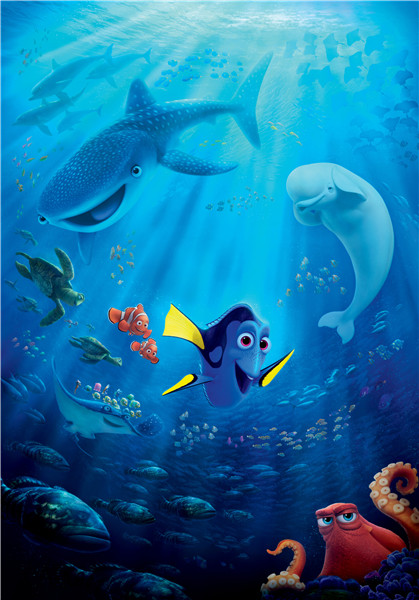 G&93 Custom Finding Dory #q Home Decor Fashion modern Bedroom Wall Poster Size 40X60cm Sticker #83&93ei  -  Allen Sunshine store