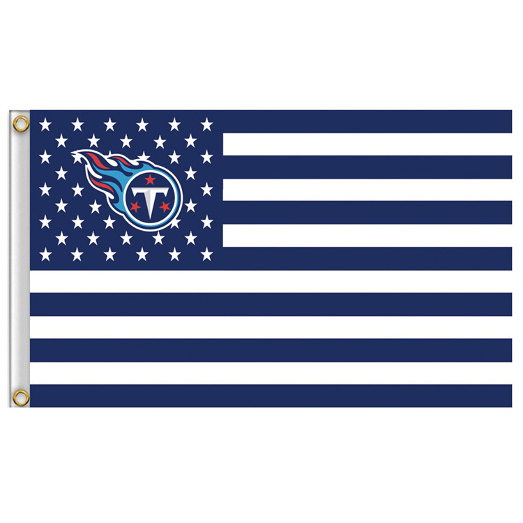 3ft x 5ft Polyester Tennessee Titans banner, Fly size 150 * 90 cm custom flag(China (Mainland))