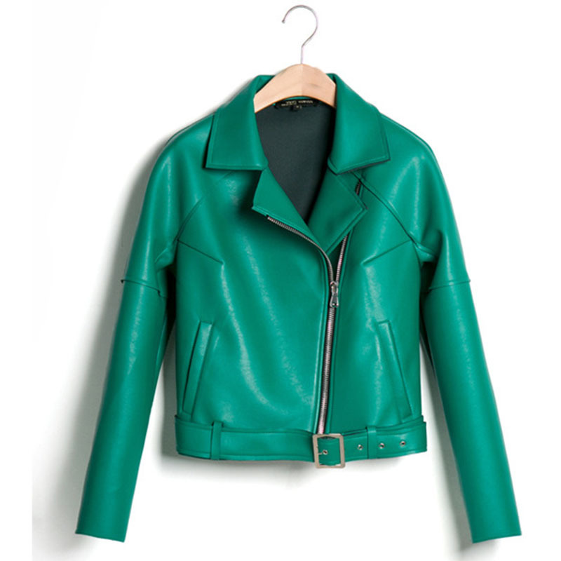 Green short leather jacket – Modern fashion jacket photo blog