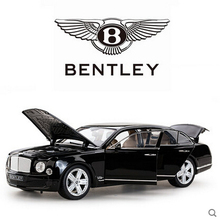 Bentley Mulsanne 1:18 rastar Toy Car model  Simulation alloy car models Boy  toy car Limousine Static Cars  Gift Collectables(China (Mainland))