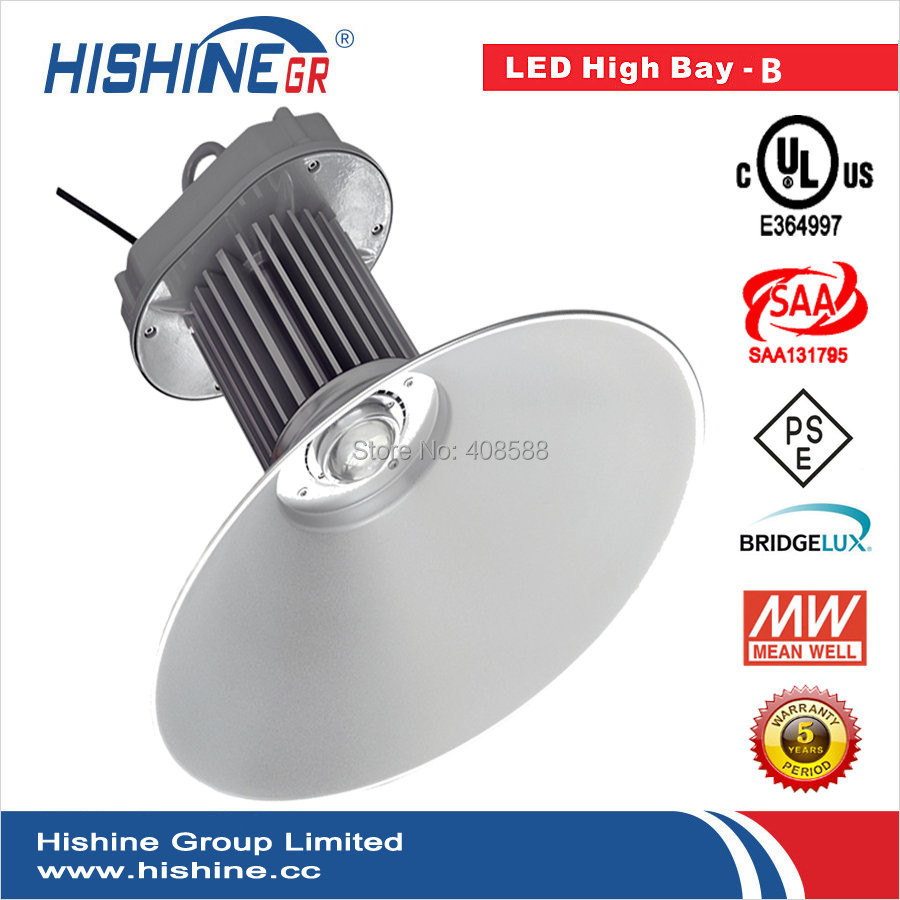 Church Quiet No Delay High Bay Light 100W Led With 3 Years Warranty Meanwell Driver AC85-265V Bridgelux Chip(China (Mainland))