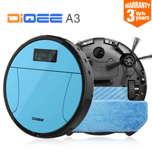Buy 2016 Smart Robot Vacuum Cleaner Home Automatic charging Sweeping Dust Sterilize Gyro navigation Planned Water mop DIQEE A3 for $184.48 in AliExpress store