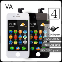 VG Black white LCD Display for iPhone 4 Touch Screen digitize full Assembly replacement parts LCD for iPhone 4 display (GSM)