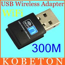 300Mbps Mini 2.4G Wireless Lan Card USB 2.0 WiFi Network Adapter 300M Realtek 8192CU 802.11b/g/n(China (Mainland))