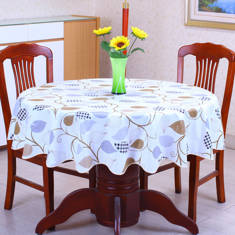 Pastoral style wave table cloth anti hot PVC plastic table cloth for Round table home hotel table cover decoration waterproof(China (Mainland))