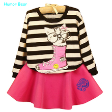 Buy Humor Bear Baby Girls Clothes Children Suit Toddler Girl casual Cotton Tshirts + Skirt Kids Clothes Sets for $9.59 in AliExpress store