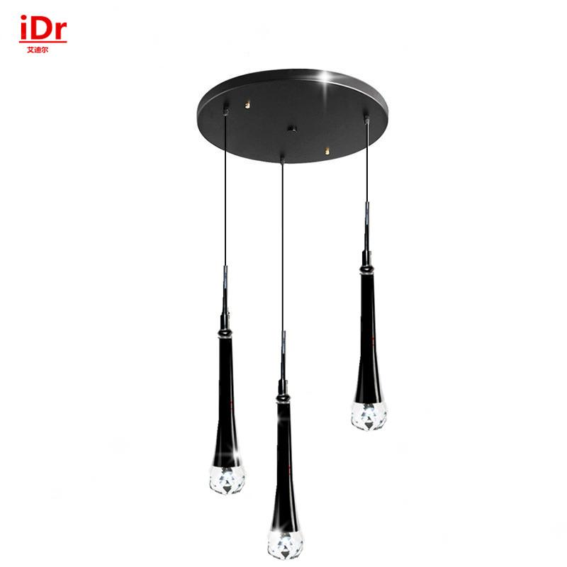 3 head Modern LED Crystal Pendant Lightsbedroom restaurant Pendant lamps simple hanging lighting manufacturers wholesale(China (Mainland))