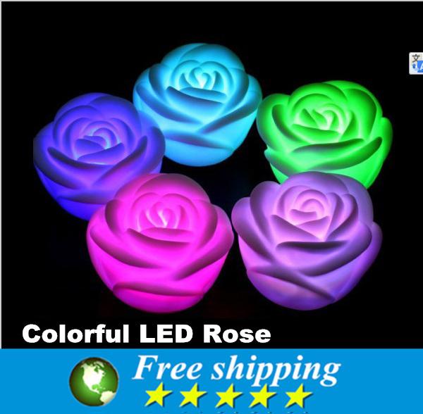 High Quality LED Romantic Rose Flower Color changed Lamp Light,LED Flashing Night Light Christmas Decoration Lighting,12x<br><br>Aliexpress
