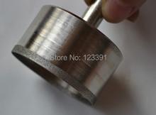 Envío gratis de electrochapado diamante fino estupendo pared agujero consideró la herramienta 31 * 53 * 23 mm para procesamiento de jade pulsera tienda