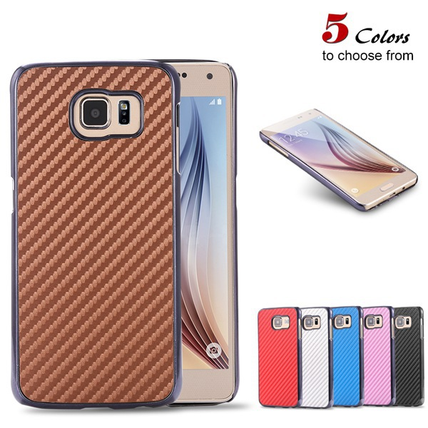 S6 Slim Case Hard Armor Back Protect Cover For Samsung Galaxy S6 G9200 Fashion Microfiber Carbon Fiber Phone Capa For S6 G9200(China (Mainland))