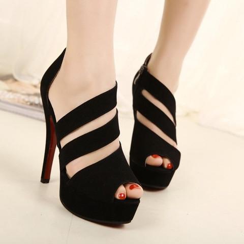 Open toe shoe women's sandals 2013 gladiator platform thick heel high-heeled shoes women's shoes