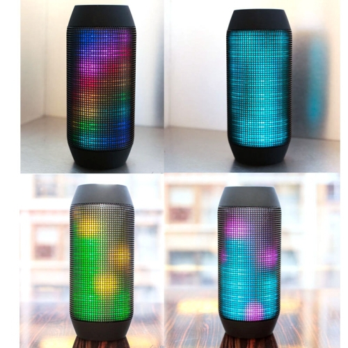 Hot sale Wireless Speaker! Pulse Portable Bluetooth Streaming Mini Speaker with Built-in LED Light Show & Mic Red Free shipping