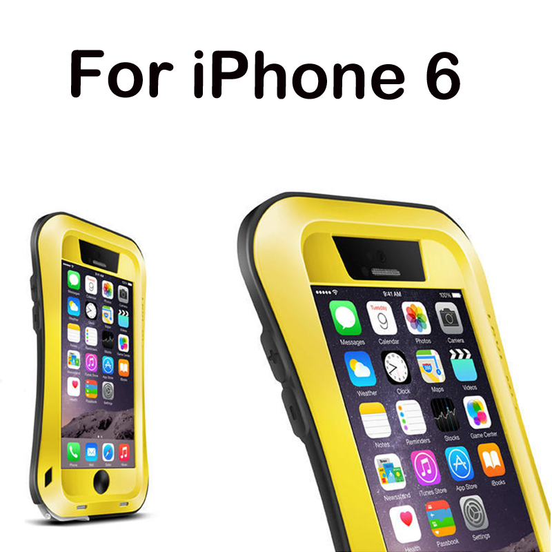 capa para for iPhone 6 water shock dropproof Metal Aluminum powerful cell case for iPhone 6 4.7 inch metal protective phone case(China (Mainland))