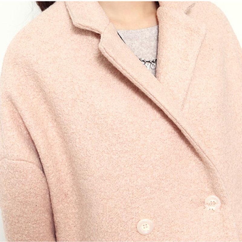 Двубортный шерстяное пальто удобные зимнее пальто женщин кашемир высокое качество Ealegant теплый Chaquetones де Mujer