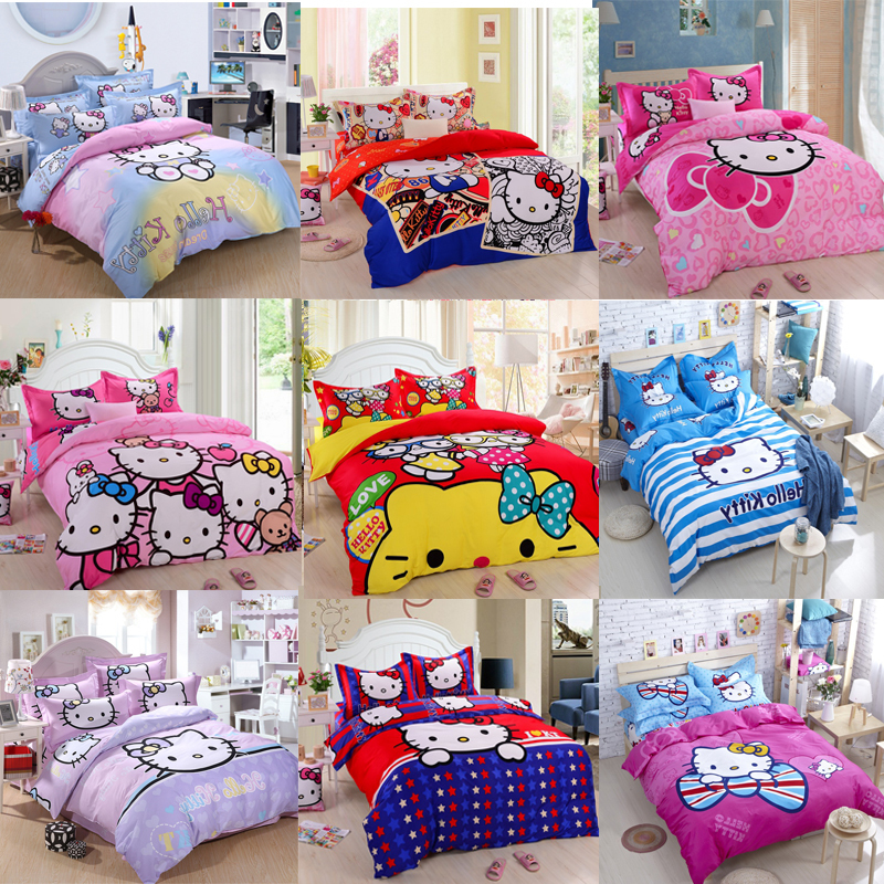 hello kitty twin queen king size bedding set bed sheet bedclothes bed
