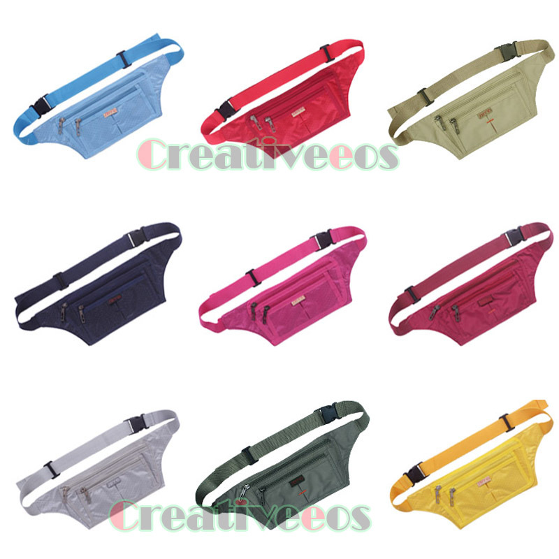 Unisex Polyester Travel Hiking Hip Bum Belt Cell Mobile Phone Jogging Running Fanny Pack Waist Waterproof Bag Pouch(China (Mainland))