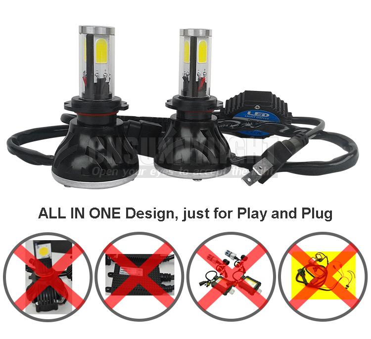 H4 H7 H13 H11 H1 9005 9006 COB LED Headlight 80W 8000LM Super Brigh Car LED Headlights Bulb Head Lamp Fog Light Pure White 6000K (16)