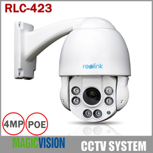 Buy Reolink RLC-423 Security PoE IP PTZ Camera Pan Tilt Zoom 4MP Video 4x Optical Zoom CCTV High Speed Dome IP Camera Waterproof for $246.99 in AliExpress store