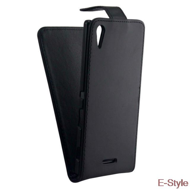 T3 Luxury PU leather Case For SONY Xperia T3 M50W D5103 Mobile Phone Bags Flip back Retro Black Business Cover(China (Mainland))