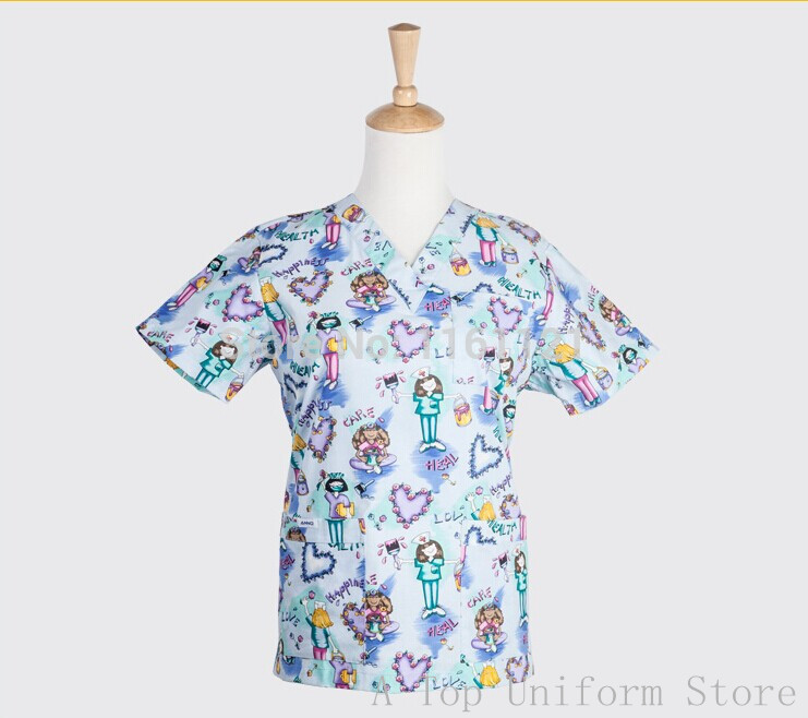 Nurse Uniform Hospital New Product A Top Women's Hospital Medical Scrub Set Clothes Short Sleeve free Shipping S09010 Surgical(China (Mainland))