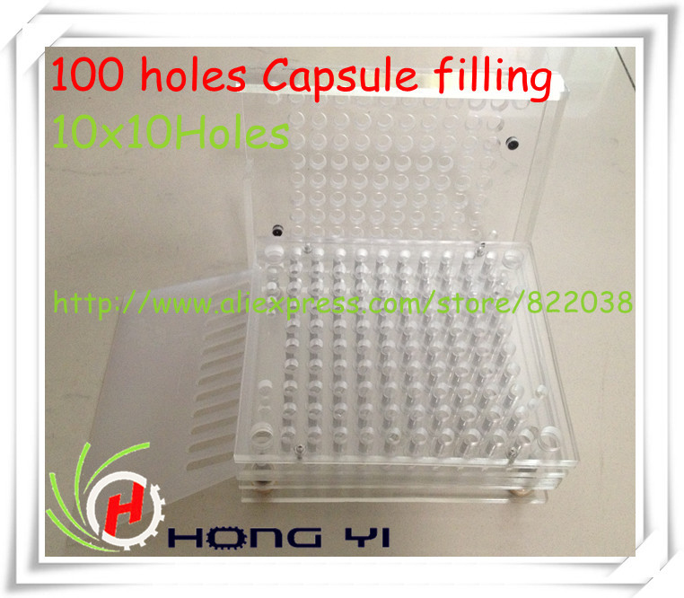 100 holes Manual Capsule Filling Machine/Capsule Filler,can be customized for 00# 0# 1# 2# 3# 4# 5# size(China (Mainland))