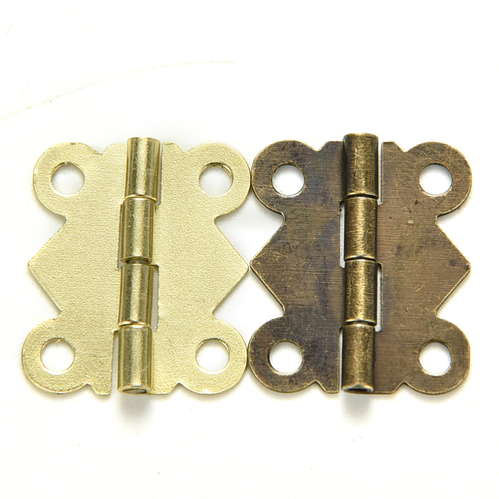 10 Pcs bronze Yellow Color Fashion Design Furniture Hinges Mini Butterfly Hinges Cabinet Drawer Jewelry Box DIY Repair(China (Mainland))