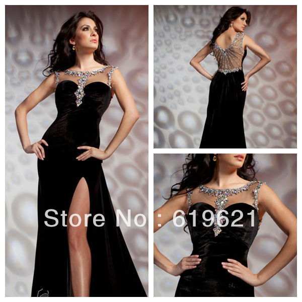 Sp33 New Dresses Elegant Sheath Women Floor-length Beading Evening Dress Prom Party 2013 - Romantic Wedding Online store