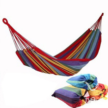 280*80cm Big Size High Quality Thickened+Breathable Garden Outdoor Camping Travel Furniture Canvas Hammock Swing Sleeping Bed