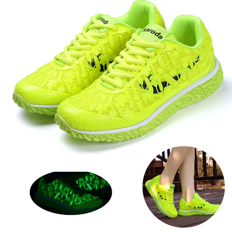New 2016 Fashion Flats Women Trainers Breathable Sport Woman Shoes Casual Outdoor Walking Women Flats Fluorescent shoes 661<br><br>Aliexpress