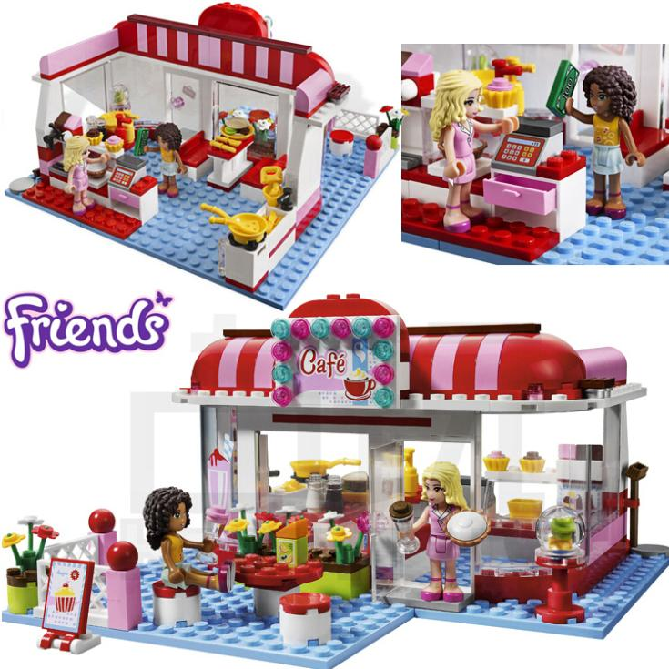 221+pcs Girls Friends Set Series City Park Cafe Building Brick Blocks Minifigure Toy Gift Compatible With Lego I3061(China (Mainland))