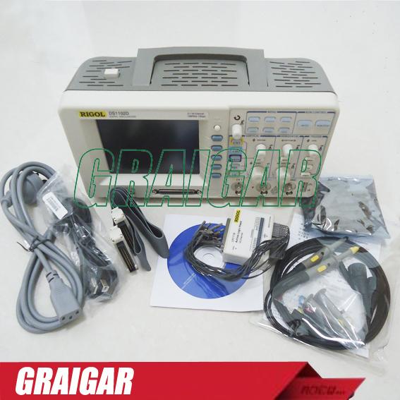 Free shpping Rigol DS1102D Oscilloscope 100MHz DS1102D 1G SR logic Analyzer<br><br>Aliexpress