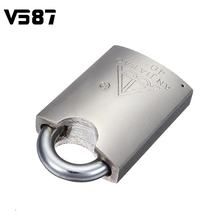 40mm Heavy Duty High Security Solid Lock Door Gate Box Safety Stainless Steel Padlock Gold Tone 4 Keys(China (Mainland))