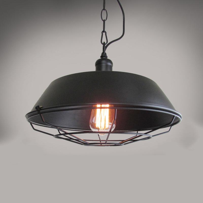 Vintage Style Pendant Lights Black Lampshade Indoor Lighting Pendant Lamp E27 Loft/Bar/Dining Room Lustre Pendente Sala<br><br>Aliexpress