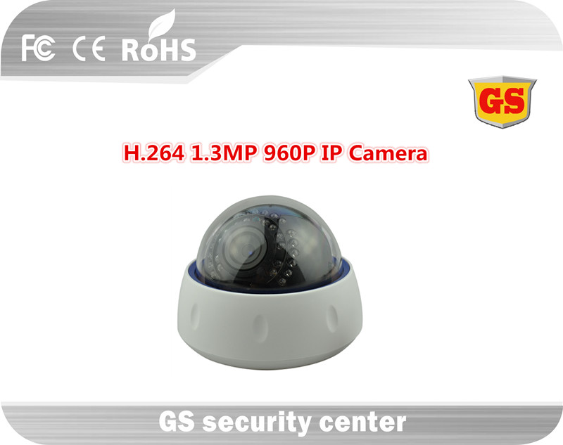 2016 New GS 1.3MP 960P H.264 Dome IP Camera Support ONVIF IR Cut Automatic Color Change Video Surveillance(China (Mainland))