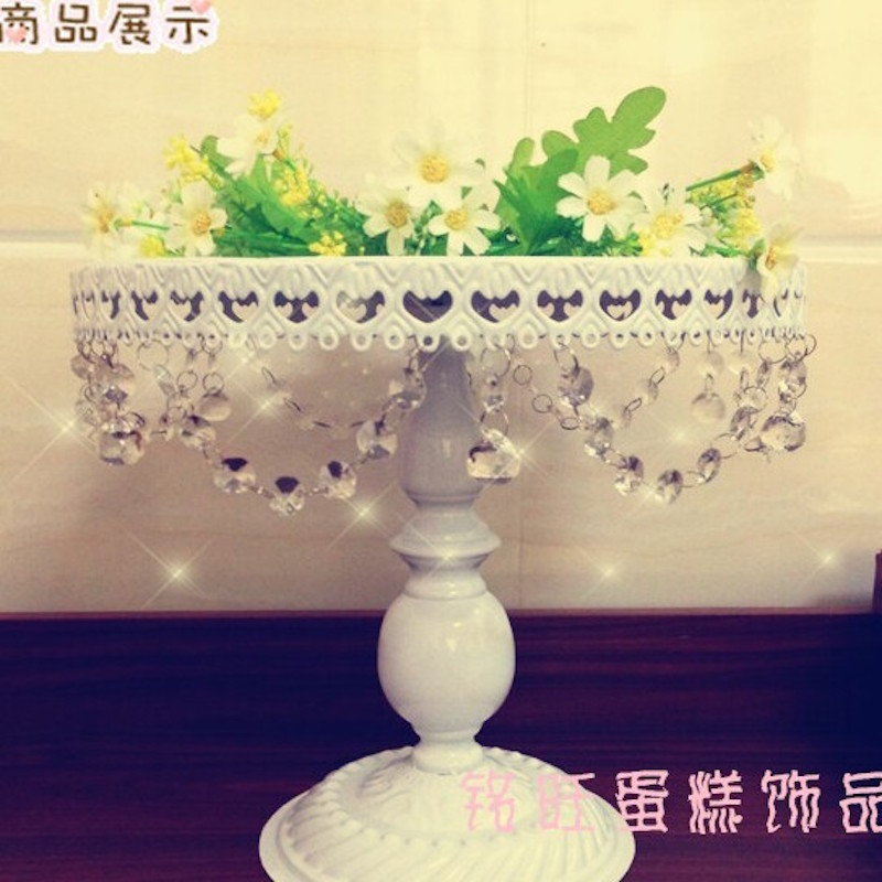 2016 New arrive cake stand/cake tray for wedding decoration 8 inches(China (Mainland))